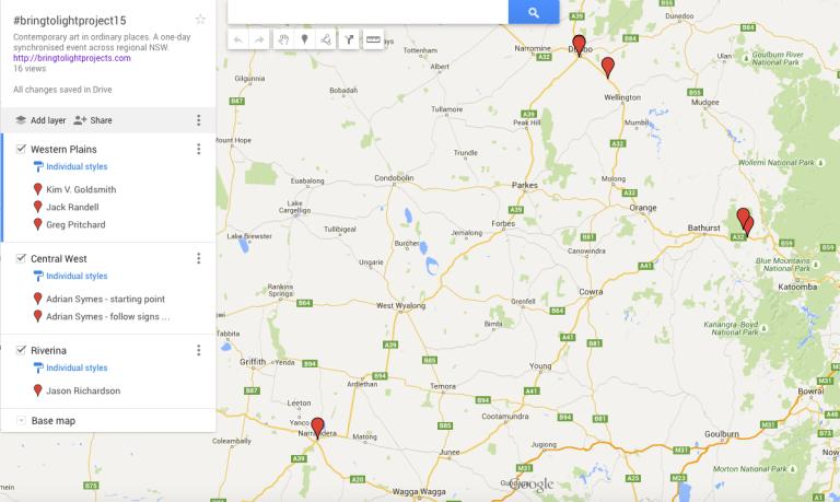 #bringtolightproject Google Map